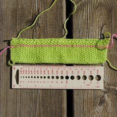 Good tip for gauging. Knit one row in a contrast colour - makes it easier to count stitches