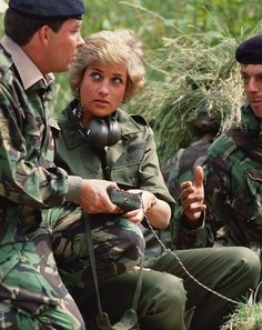 June 23, 1988: Princess Diana with the 10th Royal Hussars (Prince of Wales' Own) on Salisbury Plain.