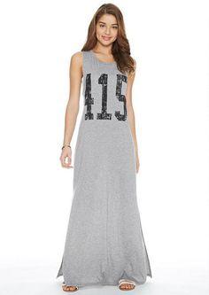 Open Twist-Back Maxi Dress