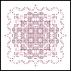 Squared Away is strictly a blackwork/backstitch pattern. There are no full, half, or quarter stitches.