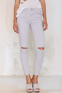 Glamorous Cut 'n Run Skinnies are the jeans you've been looking for! Get the look of white skinnies without the worry ; )