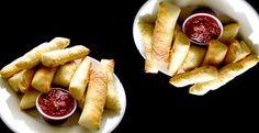palitos de pan con queso parmesano y gruyere