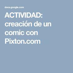 ACTIVIDAD: creación de un cómic con Pixton.com