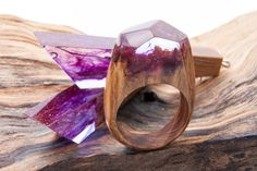 Wooden Ring & Earrings of GreenWood https://www.etsy.com/ru/shop/StoreGreenWood?ref=hdr_shop_menu