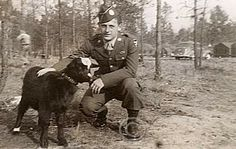 """Joe Lesniewski. """"As I looked across the road, there was a German soldier directly in front of me with a potato masher grenade. He threw it at me. I ducked as fast as I could. The grenade hit my helmet and bounced off. I hollered to the guys: """"Live grenade! Get the hell away from here!"""" The thing exploded. Every one of us got wounded. Jim Alley got hit thirty-two times. In 1994 he went to the hospital again, even this late in life, and they still found a piece of shrapnel in his body."""""""