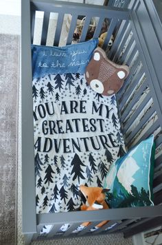 You Are My Greatest Adventure Crib Sheets