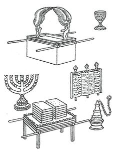 The Ark of the Covenant printable coloring page. Go to