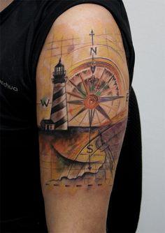 lighthouse compass by tattoozone.deviantart.com on @deviantART