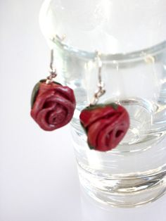 Gifts under 5 Dollars Rose Earrings by SarahsArtisanJewelry, $4.99