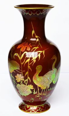 Beautiful Rare Zsolnay Pécs Pécs multi-eosin vase Hungary around 1920 H