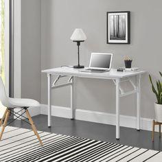 Mobil összecsukható íróasztal, állítható magassággal fehér színben Laptop Table For Bed, Bed Table, Folding Table Desk, Lap Desk, Writing Table, White Desks, Computer, Home And Living, Space Saving