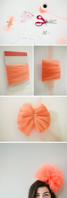 Tulle Poof Party Hat...