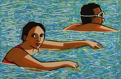 Anita Klein's SWIMMING IN THE LAKE at the RA Summer Exhibition 2015