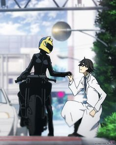 The only reason I watch this show! XD  Celty x Shinra