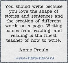 .When I see authors who complain that bloggers are wannabe writers I wonder - why do they think there's such a distinct line between reader/writer.  Most people are some combination there-of because both come from the love of stories.