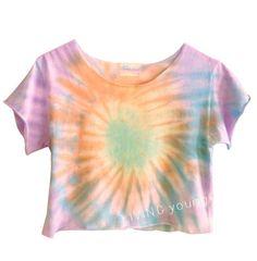 Ombre Pastels Swirl Tie Dye Crop Top $17.50