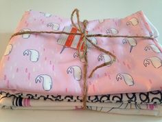 Set of 3 Custom Burp Cloths, Monogramming Available. Pick Your Own Fabrics! on Etsy, $27.00