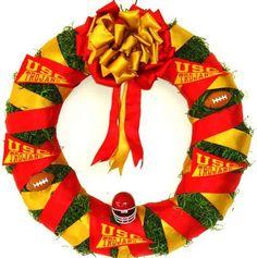 Trojan Football Ribbon Wreath at Awesome Wreaths