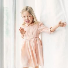 Princess Leonore turned 4 on Feb. 20 and the palace celebrated with adorable new photos of the Swedish royal, whose mom is Princess Madeleine and dad is Chris O'Neill. Clad in a pretty pink dress with three-quarter sleeves and a delicate collar, the princess beams at the camera as she outstretches her arms. Photo: © Erika Gerdemark/Kungahuset.se