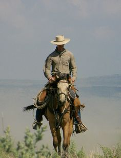 Cowboy Riding Horse | Farms: Horse Training -Foundation Education horse training, horse ...