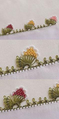 A Very Stylish Needle Truss Towel Edge Model - tuba - - A Very Stylish Needle Truss Towel Edge Model - tuba Crochet Edging Patterns, Crochet Borders, Viking Tattoo Design, Viking Tattoos, Hand Embroidery Stitches, Embroidery Patterns, Sunflower Tattoo Design, Needle Lace, Quilling Art