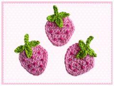 kostenlose Erdbeeren-Applikation häkeln / PDF