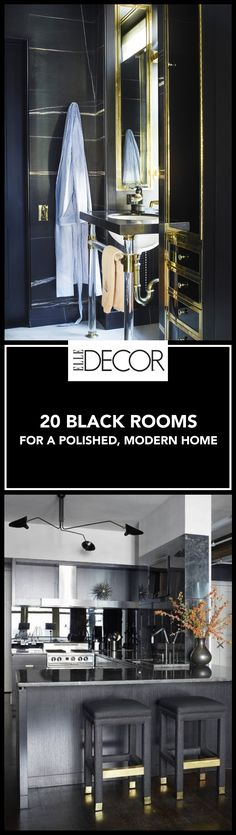 All black interiors are a powerful, stylish statement without being loud or busy.