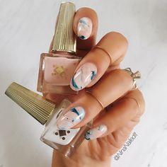 2,823 отметок «Нравится», 32 комментариев — Nina Park. Nail Art. Boston. (@ninanailedit) в Instagram: «@deco.miami marble ✨ what are you currently obsessing over? I'm stuck on minimalist, abstract…»