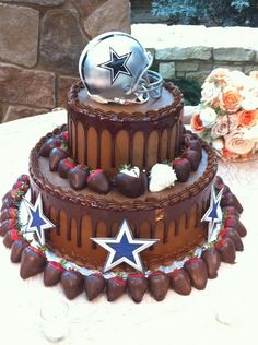 Grooms cake for my guy cause he loves his Dallas Cowboys Dallas Cake, Dallas Cowboys Party, Dallas Football, Football Banquet, Football Parties, Football Stuff, Soccer Party, Cowboy Birthday Cakes, Cowboy Cakes