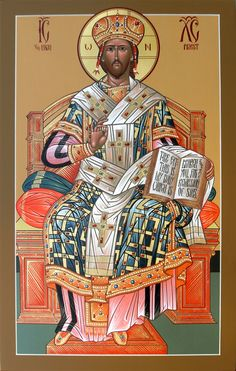 Christ the High Priest Religious Icons, Religious Art, Greek Icons, Church Icon, Christ The King, High Priest, Byzantine Icons, Lion Of Judah, Catholic Art