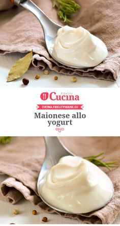 Maionese allo yogurt Finger Food Appetizers, Appetizer Recipes, Antipasto, Kitchen Recipes, Cooking Recipes, Pesto, Mousse, Romanian Food, Sauces