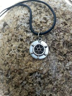Ship Wheel Necklace Ship Wheel Jewelry Nautical by AbsoluteJewelry