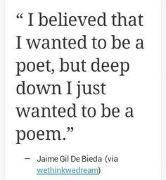 my attitude towards poetry in general