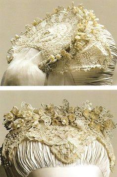 Details of Princess Grace's wedding headpiece 1956.