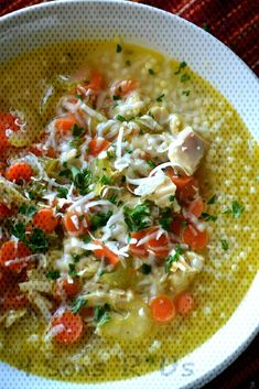 Nonna's Italian Style Chicken Noodle Soup - 4 Sons 'R' UsYou can find Italian chicken soup and more on our website.Nonna's Italian Style Chicken Noodle Soup - 4 Sons 'R' Us Italian Chicken Soup, Chicken Noodle Soup, Italian Style, Thai Red Curry, Risotto, Noodles, Sons, Website, Ethnic Recipes