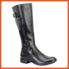 Born Womens Lottie Almond Toe Leather Fashion Boots, Black, Size 7 - Boots for women (*Amazon Partner-Link)