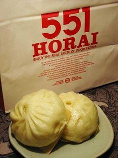 551Horai buta-man, steamed pork bun, a popular souvenir from Osaka ...