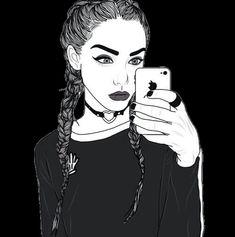 sensa, dessiné, fille, Tumblr