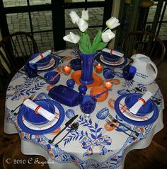 NIB 5 Piece Flatware Set 1 Place Setting In Sapphire Homer Laughlin Co FIESTA