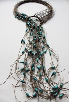 Necklace | Niki Stylianou. From her Fiber + Wood collection