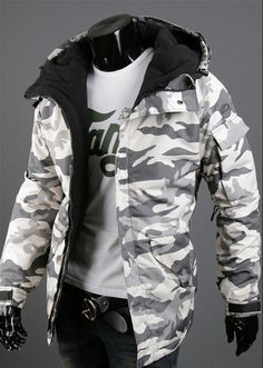 Buy Men's Casual Camouflage Hooded Windproof Jacket Coat Hip Hop Hoodies Jacket Clothing at Wish - Shopping Made Fun Camouflage Jacket, Camo Jacket, Jacket Men, Jacket Style, Vetement Hip Hop, Suit Fashion, Mens Fashion, Mode Style, Mens Clothing Styles