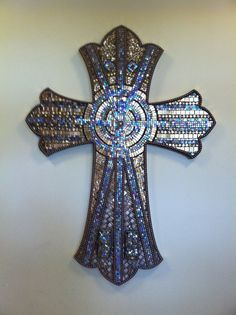 Mosaic Church Cross by Broken Beauty Mosaics on Etsy, $4,500.00