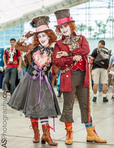 "Quite Mad by briannacherrygarcia . ""Me and my buddy ~SithcamarowsPadawan in our Mad Hatter costumes at San Diego Comic-Con 2013.   Photo by ASPhotography - asphotography.ca And their facebook fanpage - www.facebook.com/ComicConInter..."""