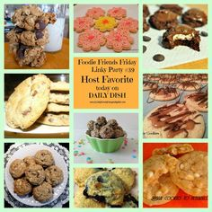 We hope you enjoyed all the delicious Cookie Recipes that were linked up with our Foodie Friends Friday Linky Party.~Daily Dish with Foodie Friends Friday