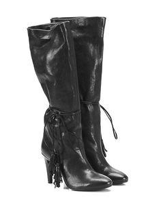 Fiori Francesi - Stivali - Donna - Stivale in pelle vintage con nappine su…