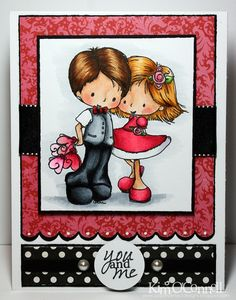 "Paper Perfect Designs by Kim O'Connell: Tiddly Inks ""Love Fully"" clear stamp set"