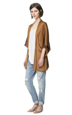 Great for Saturday afternoon - DRAPED FLOWING KIMONO from Zara