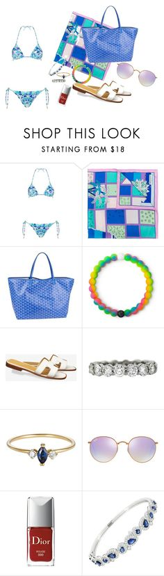 """""""Noronha baby"""" by erik-a-1 ❤ liked on Polyvore featuring Emilio Pucci, Goyard, Lokai, Ray-Ban, Christian Dior and Nigaam"""