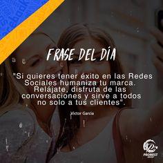 Aquí les dejamos nuestra frase del día, comunicando un importante dato de social media. #20abril #SocialMedia #Estrategias #España #Panamá #Venezuela #Chile #Perú #Colombia