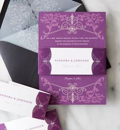 DIY your way. Add belly bands, ribbon, envelopments and more to make your wedding invitations truly unique.